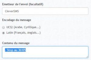 Stop par SMS